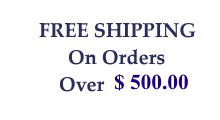 Free Shipping On Orders Over $400.00