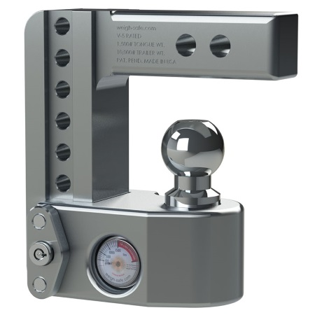 Weigh Safe Adjustable ball Mount with built-in tongue scale stowed away