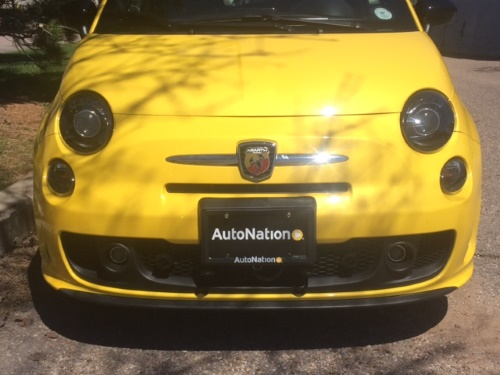 Blue Ox Base Plate Mounted to Fiat 500 Abarth