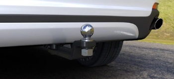 Stealth Hitch With Ball Mount Attached
