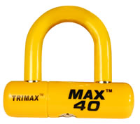 Trimax MAX40 Yellow U-Lock