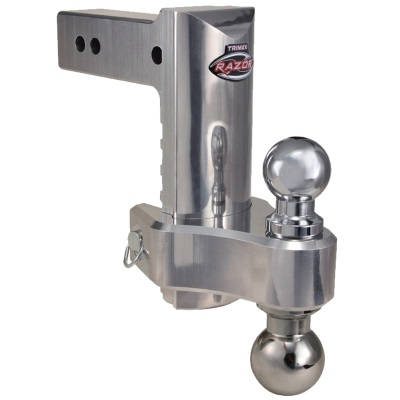 Aluminum Trimax Razor Adjustable Ball Mount for 2 1/2 inch receiver
