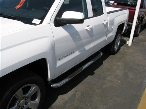 Trailfx Stainless Double Step Bar on truck