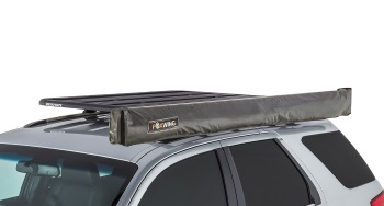Rhino Rack Foxwing Awning on roof for traveling